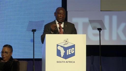 動画:南アフリカ総選挙、与党ANCが勝利も得票率は過去最低