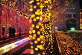 中国・天津でイルミネーション祭り