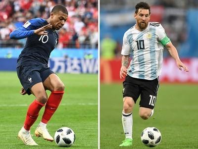 フランス対アルゼンチンのスタメン発表、エムバペとメッシが出場
