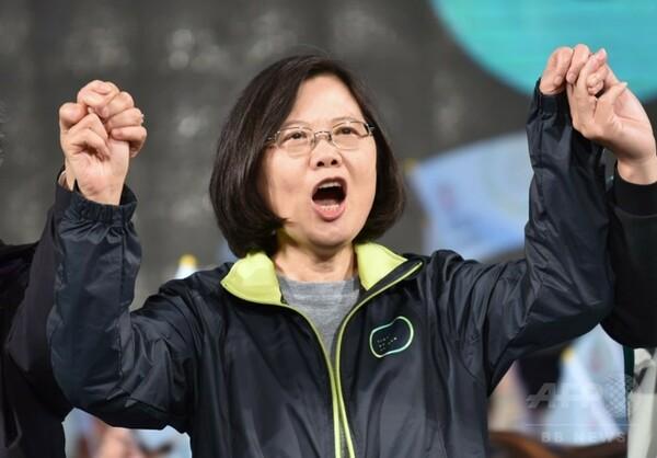民進党・蔡氏優位保つ=総統選まで1週間-台湾