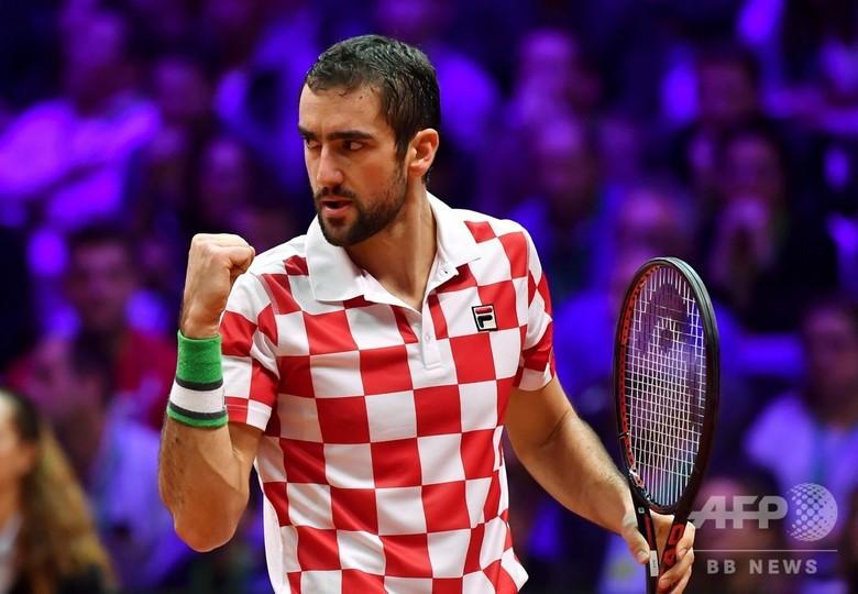 クロアチアが2度目のデ杯Vに王手、フランスに初日シングルス連勝