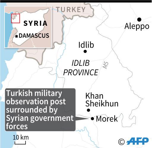 シリア政府軍、北西部でトルコ軍の監視拠点を包囲