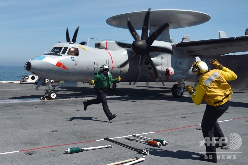 【記者コラム】洋上のカルチャーショック、フランス軍と乗った米軍空母