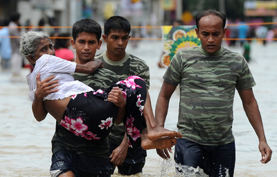 スリランカ豪雨、死者11人に 20万人以上避難