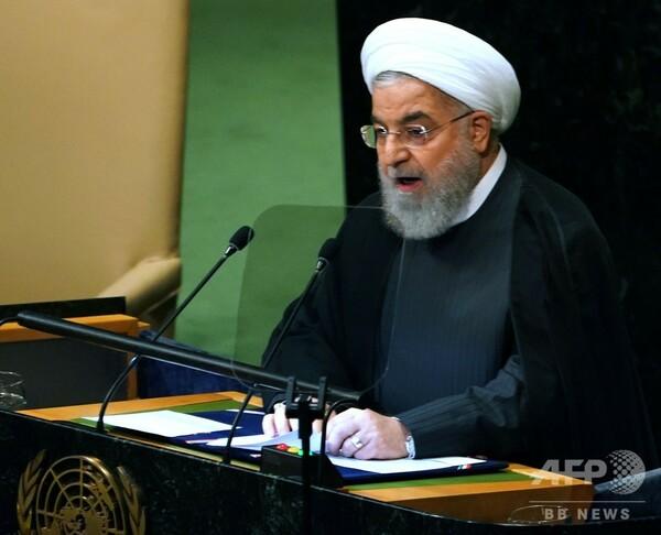 「トランプ氏はイラン政権転覆を企図」、ロウハニ師が猛批判