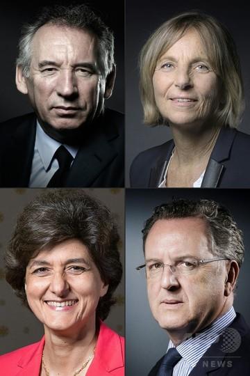 仏4閣僚が相次ぎ辞任 マクロン氏、内閣改造を実施