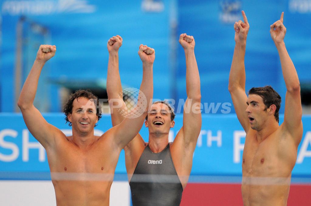米国が4x100メートルメドレーリレーで世界新、世界水泳