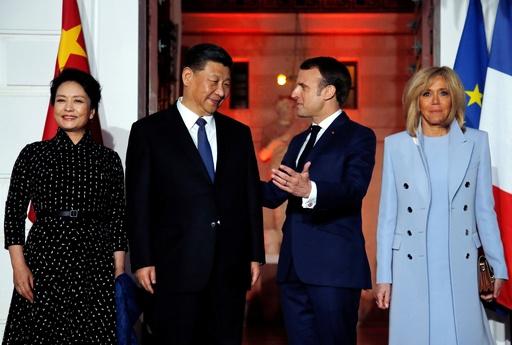 中仏首脳が夕食会 マクロン氏、欧州結束で中国対抗狙う