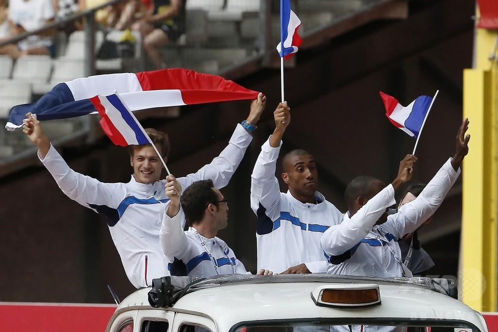 ロンドン五輪男子400mリレー、繰り上がりの仏代表に銅メダル授与