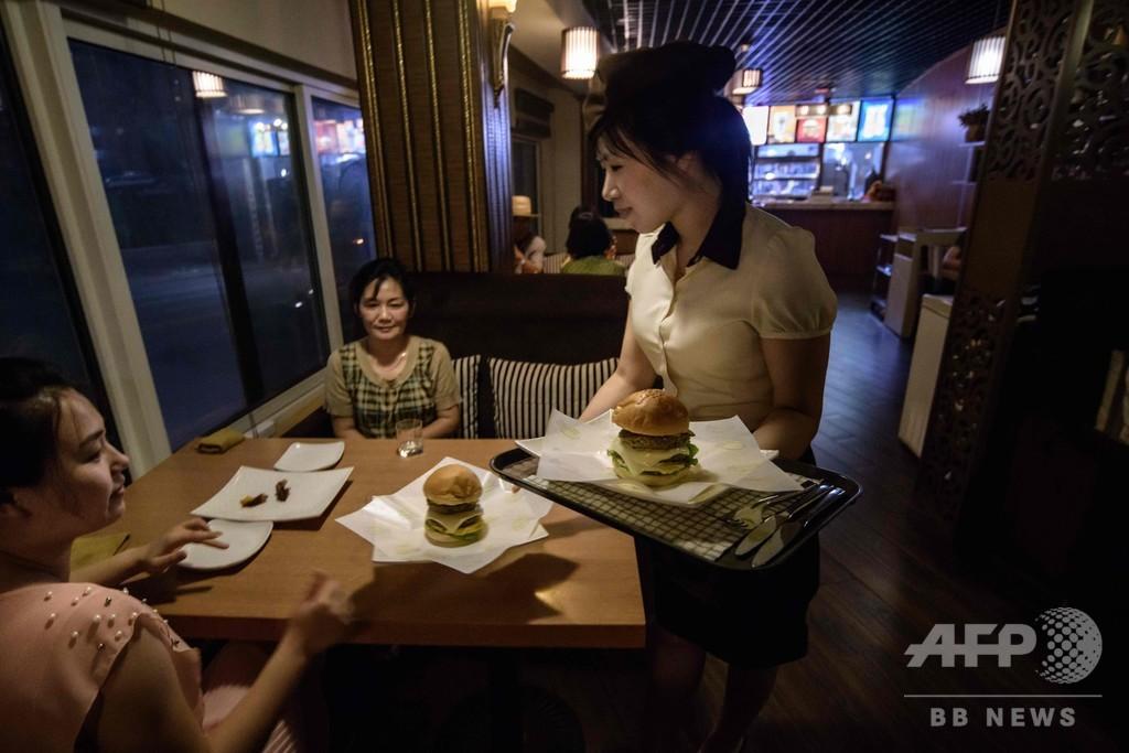 北朝鮮で感じる米文化、バーガーショップでポテトもいかが?