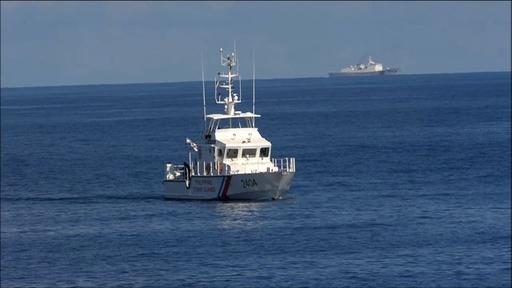 動画:南シナ海で米比沿岸警備隊が合同訓練