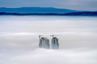 マケドニアの首都スコピエ、連日の激しい大気汚染
