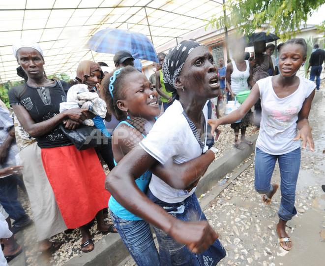 大地震被災のハイチでコレラ流行...