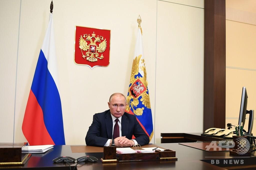 プーチン大統領、コロナ流行の「ピークは過ぎた」と発言 ロシア