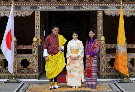 眞子さま、ブータン国王夫妻を表敬訪問