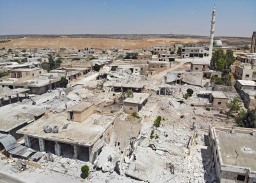シリア政府、イドリブ県で空爆再開 停戦撤回