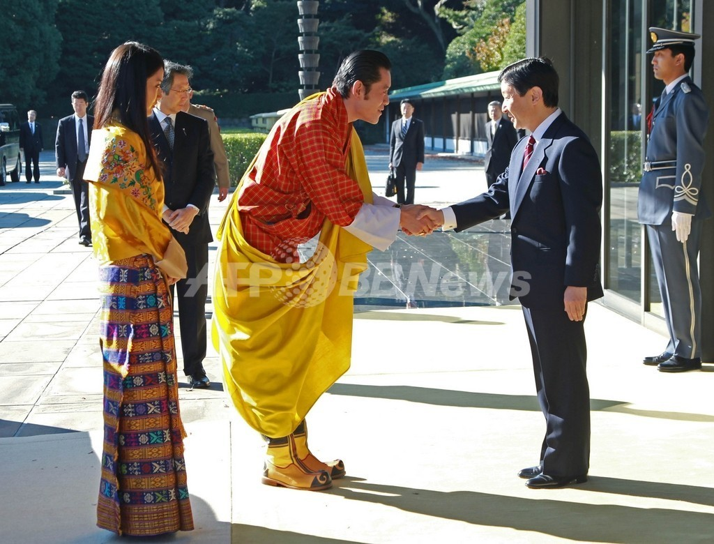 ブータン国王夫妻の歓迎式典