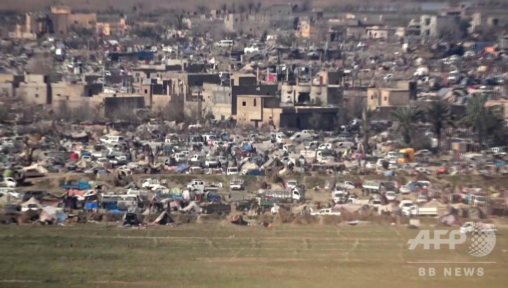シリア最後のIS拠点、民間人の大量脱出止まず  SDFも驚き隠せず
