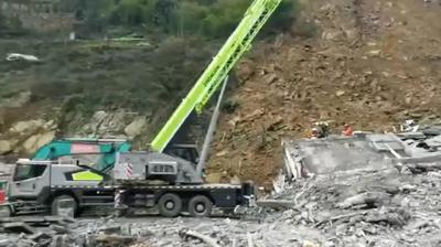 動画:中国・四川省叙永県で山が崩落 4人死亡