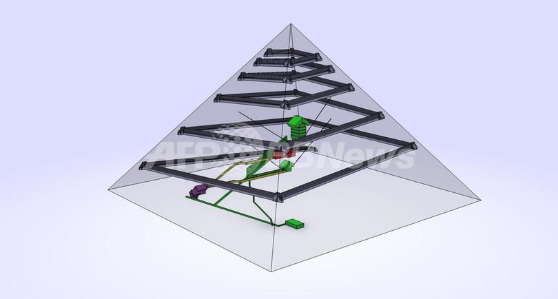 クフ王のピラミッドに2つの副室か、仏建築家