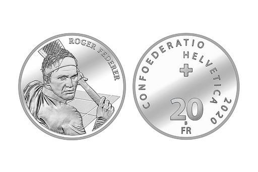 フェデラーが母国スイスで硬貨に、存命中の人物としては初