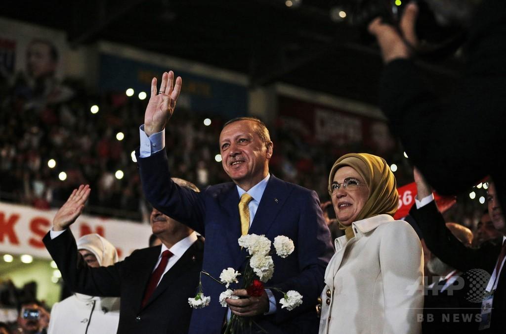 エルドアン大統領、トルコ与党党首に返り咲き 集権化進む