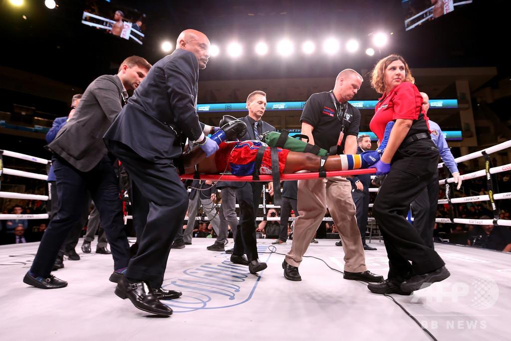 KO負けの米ボクサー、脳の負傷で死亡 興行主は安全性向上求める