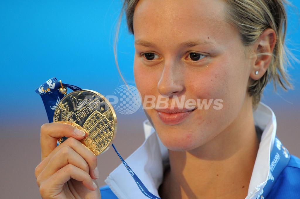 ペレグリニ 女子200メートル自由形を世界新で制す、世界水泳