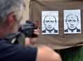 ウクライナの射撃場にプーチン露大統領の標的