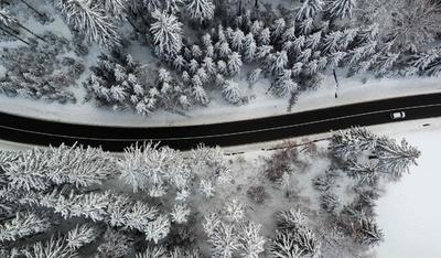 冬本番のドイツ、各地で雪景色