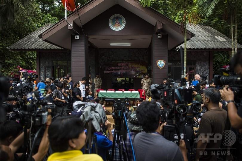 タイ洞窟、山腹の穴100か所超で掘削作業 地上部からの救出探り