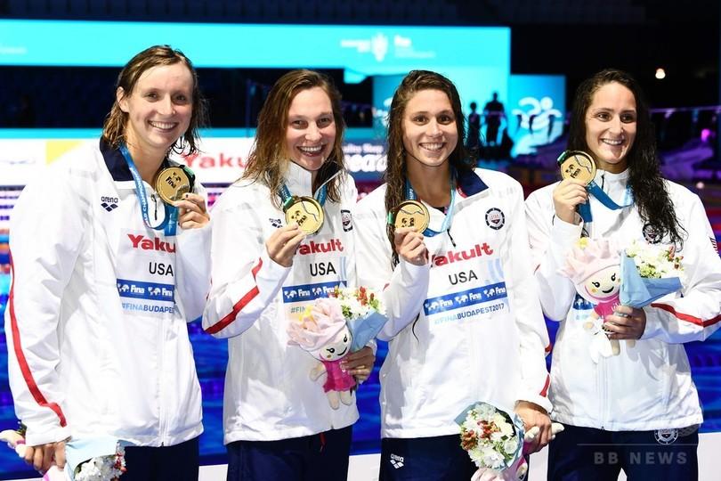 レデッキーが通算13個目の金、米国が3種目制す 世界水泳