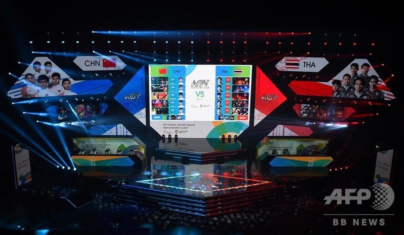 アジア大会、公開競技初採用のeスポーツが開幕