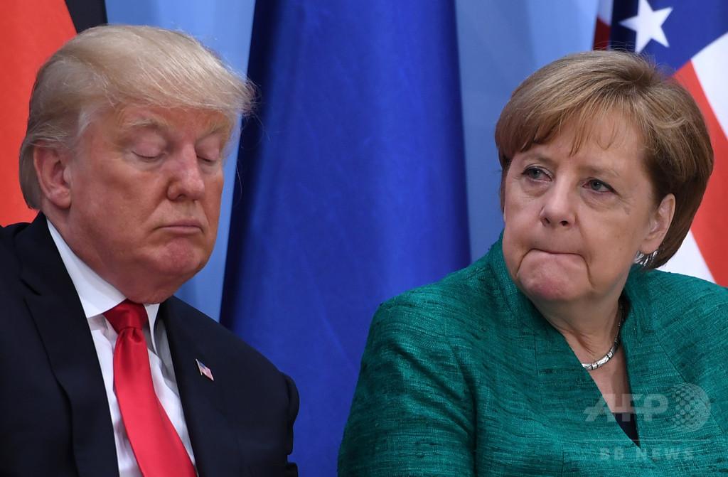 ハンブルクで開催のG20閉幕、首脳宣言でトランプ氏に譲歩
