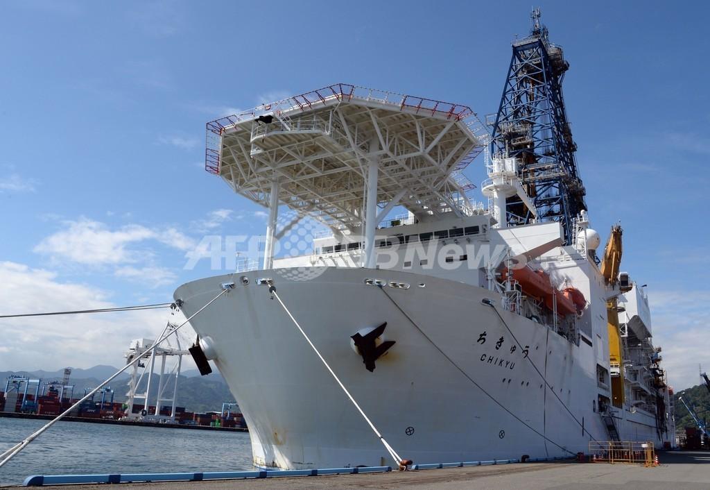 巨大地震メカニズム解明へ、探査船「ちきゅう」 南海トラフ調査へ出航