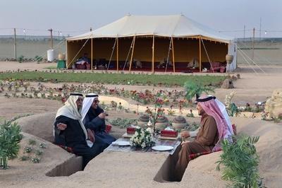 砂漠でのんびり、クウェートはキャンプシーズン真っ只中