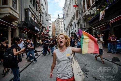 国際ニュース:AFPBB Newsトルコ機動隊、「ゲイ・プライド」パレードにゴム弾使用