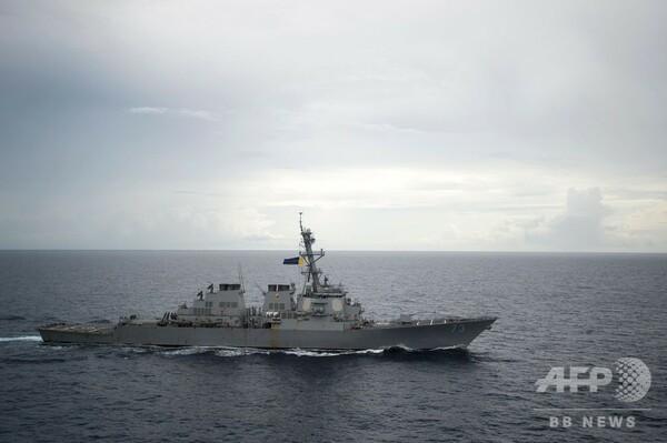 米駆逐艦、南シナ海の南沙諸島付近で「航行の自由作戦」