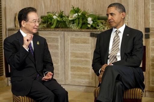 オバマ米大統領と中国の温首相が会談