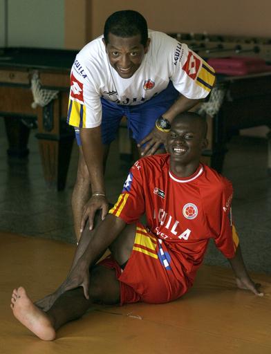 <サッカー 07南米ユース選手権>コロンビア代表 ウルグアイ戦に向けて調整練習を行う - パラグアイ