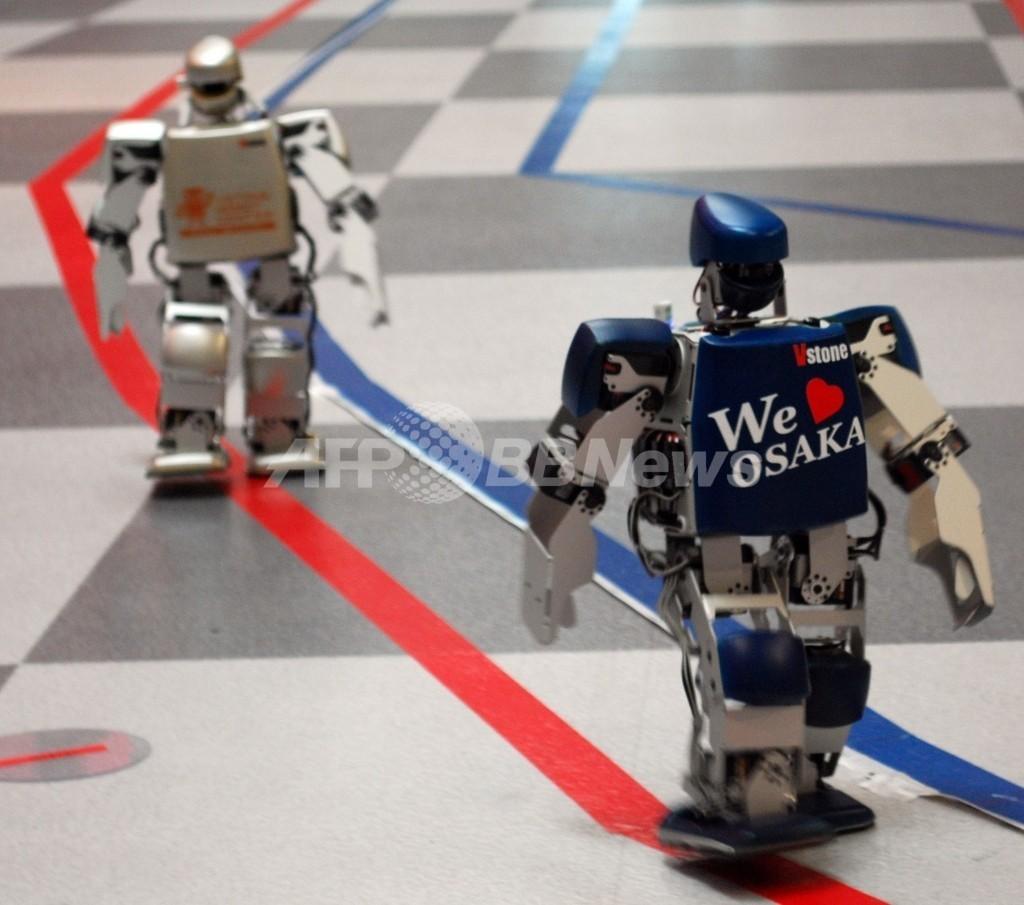 世界初!二足歩行ロボットのフルマラソン大会、大阪で開催