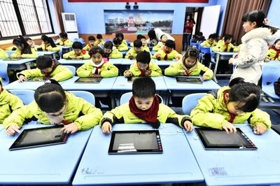 小学生の期末テストにタブレット端末導入 安徽・合肥