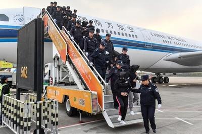 カンボジア拠点にネットで詐欺 中国人容疑者233人を送還