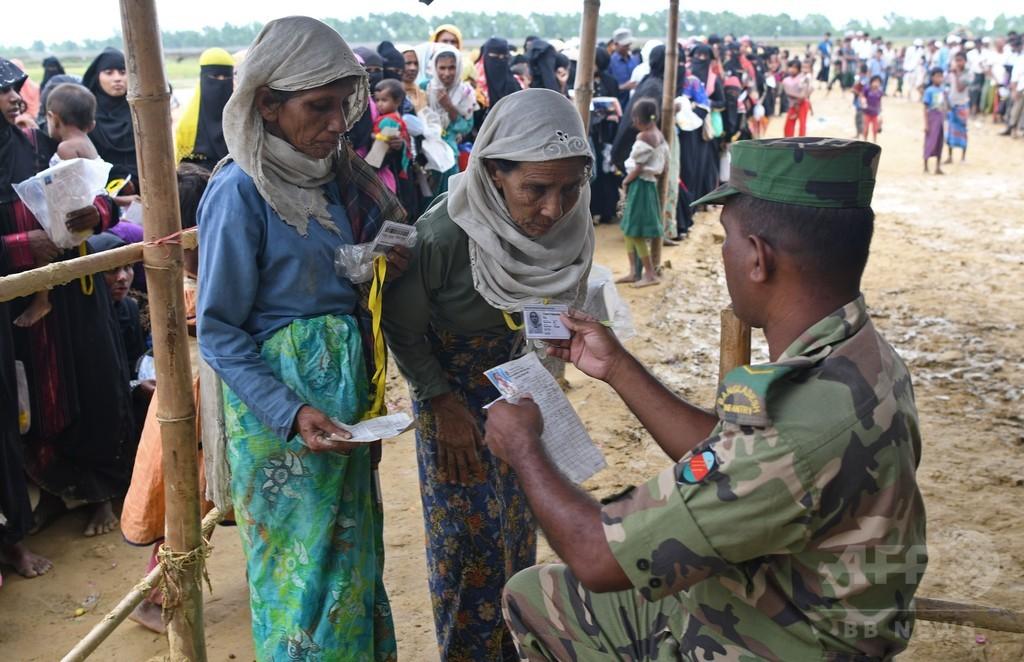 バングラ入りしたロヒンギャ難民、60万人超える 国連推計