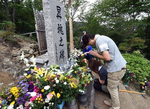 日航機墜落事故から30年、群馬県上野村で追悼式典