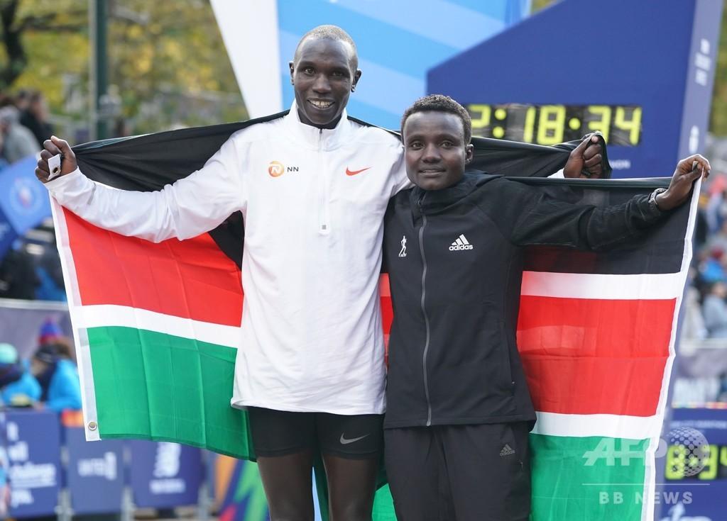 NYCマラソン、ケニア勢が男女優勝