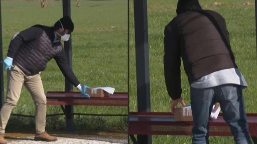 動画:命綱はバス停のベンチ…新型コロナで封鎖の村 イタリア