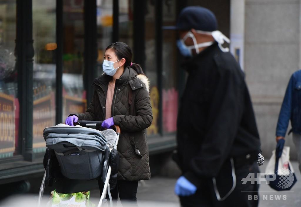 米国の新型コロナ死者、1日で世界最多の1480人増 計7406人に