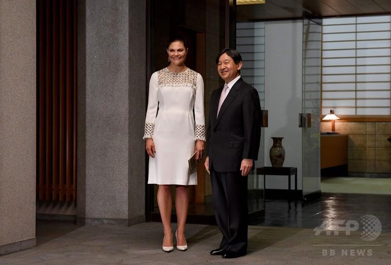 スウェーデン王太子、皇太子さまとの晩さん会に出席