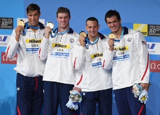 ドレッセル、フェルプス氏に並ぶ1大会7個目の金で世界水泳終える
